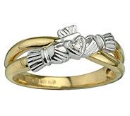 Solvar Diamond Accent Claddagh Ring, 14K - J343547
