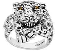 JAI Sterling Silver Leopard Ring - J346047