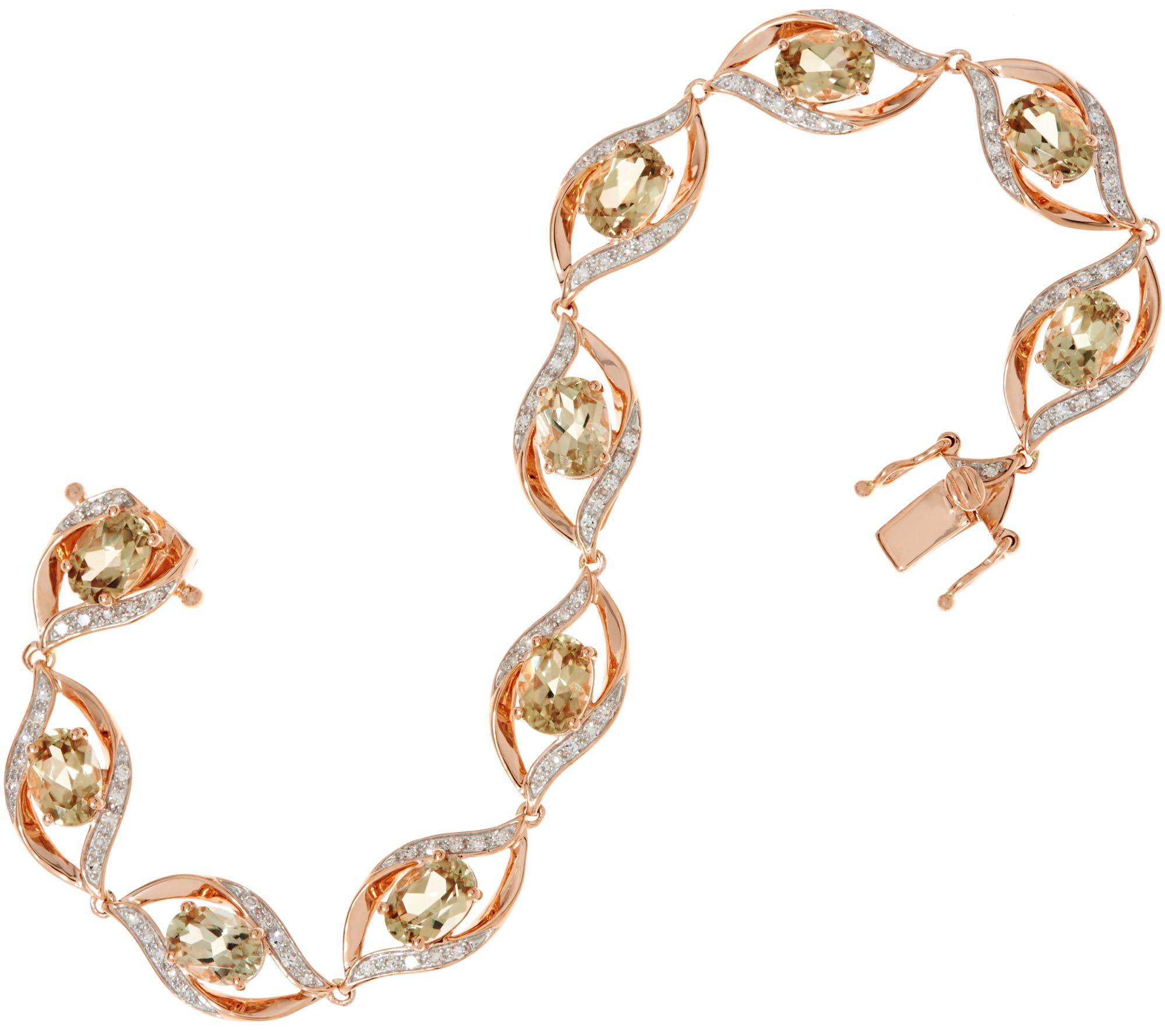 Oval Csarite Diamond Tennis Bracelet 14k Gold 6 85 Cttw Page 1 Qvc