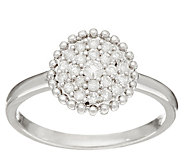 Pave White Diamond Ring, Sterling Silver 1/4 cttw, by Affinity - J346347