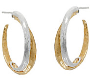 Or Paz Sterling Silver & 14K Gold Two-tone Hoop Earrings - J349547
