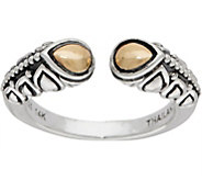 JAI Sterling & 14K Lotus Petal Open Band Ring - J350147