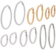 Sterling Omega Back Hoop Earrings by Silver Style - J351047