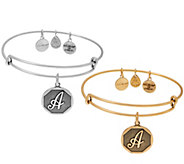 Alex and Ani Initial Charm Bangle - J351847