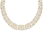 Grace Kelly Collection Simulated Pearl Bib Necklace - J355147