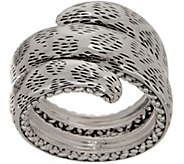 JAI Sterling Silver Leo Texture Wrap Ring - J355647
