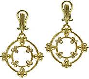 Judith Ripka 14K Gold & Diamond Earrings - J374947