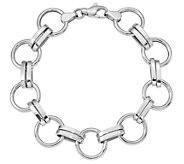 14K Gold Circle Link Bracelet, 8.1g - J384847