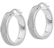 Italian Gold Glitter Infused Hoop Earrings, 14K - J385547