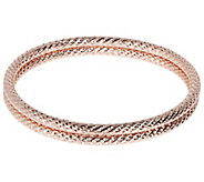 Bronzo Italia Average Set of 2 Diamond-Cut Bangles - J385947