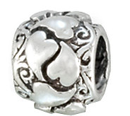 Prerogatives Sterling Wrapped Heart Bead - J109248