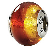 Prerogatives Sterling Yellow & Red Italian Murano Glass Bead - J111548