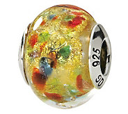 Prerogatives Sterling Yellow/Multi Italian Murano Glass Bead - J111748