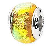 Prerogatives Sterling Yellow Dichroic Glass Bead - J113348