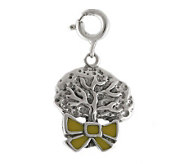 Sterling Yellow Ribbon Around the Tree Charm - J297548