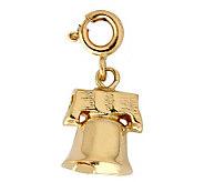14K Yellow Gold Bell Charm - J298448