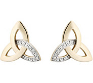 Solvar Diamond Accent Trinity Earrings, 14K - J379448