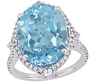 14K 11.20 cttw Multi-Gemstone and 3/8 cttw Diamond Ring - J392348