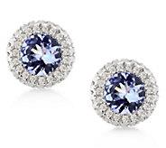14K 1.00 cttw Tanzanite & 1/4 cttw Diamond StudEarrings - J393148