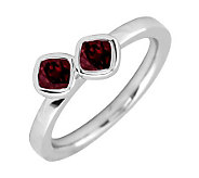 Simply Stacks Sterling & Garnet Double-Square Gemstone Ring - J299349