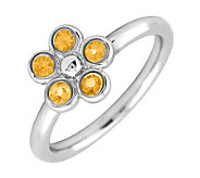 Simply Stacks Sterling & Citrine Sweet Flower Ring - J299449