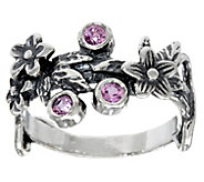 Or Paz Sterling Silver Colors of Sapphire Floral Ring - J333549
