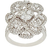As Is Round White Diamond Cocktail Ring 14K, 1.50 cttw by Affinity - J334649
