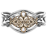 Carolyn Pollack Mixed Metal Mother-of-Pearl Coronation Cuff - J342849