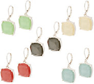 Joan Rivers Set of 5 Opaque Glitter Earrings - J353449