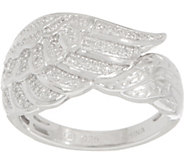 Angel Wing Diamond Ring Sterling, 1/7 cttw by Affinity - J354149
