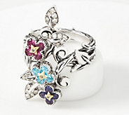 Barbara Bixby SterlingSilver & 18K Gold Floral Gemstone Ring, 1.40 cttw - J360549