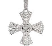 Judith Ripka Sterling & Diamonique Cross Enhancer - J374749
