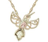 Black Hills Hummingbird Pendant w/ Chain, 10K/12K Gold - J384349