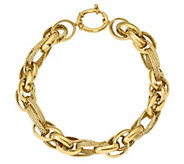 Italian Gold 14K Interlocking Oval Link Bracelet, 10.8g - J384949
