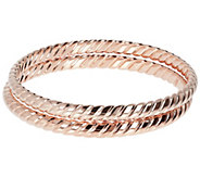 Bronzo Italia Set of 2 Ribbed Bangles - J385949