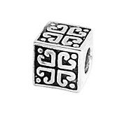 Prerogatives Sterling Heart Cube Bead - J108650