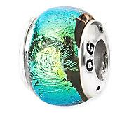 Prerogatives Sterling Green Dichroic Glass Bead - J113350