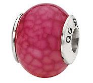 Prerogatives Sterling Fuchsia Crackle Agate Gemstone Bead - J298250