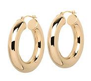 EternaGold 1-1/8 Bold Polished Hoop Earrings,14K Gold - J307250