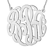 Sterling 1-1/2 Personalized Script MonogramNecklace - J308050