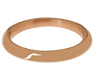 Bronzo Italia Average Sculpted Knife-Edge Bangle - J314750