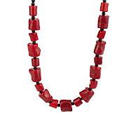Lee Sands Free-Form Shape Coral Bead 17 Adjustable Necklace - J315050