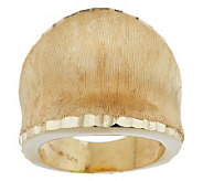 As IsVeronese 18K Clad Satin Finish & Diamond Cut Concave Ring - J324150
