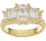 Judith Ripka 14K Clad 2.75 cttw Diamonique 5 Stone Ring - J348150