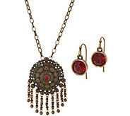 Linea by Louis DellOlio India Pendant Necklace Set - J350150