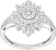 Baguette & Round Diamond Ring, 1/2 cttw, 14K Gold, by Affinity - J352050