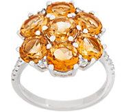 Gemstone Cluster Flower Ring, Sterling Silver - J354050