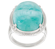 Oval Opaque Gemstone Ring, Sterling - J355950