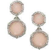 Judith Ripka Sterling Pink Opal/Rose Quartz & DMQ Earrings - J377150