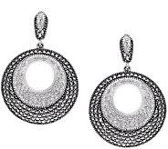 Suspicion Sterling Marcasite & Crystal Earrings - J379350